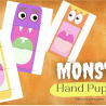 Free Monster Hand Puppets Activity. #freehomeschooldeals #fhdhomeschoolers #printablepuppets #halloweenactivity #monsterpuppets