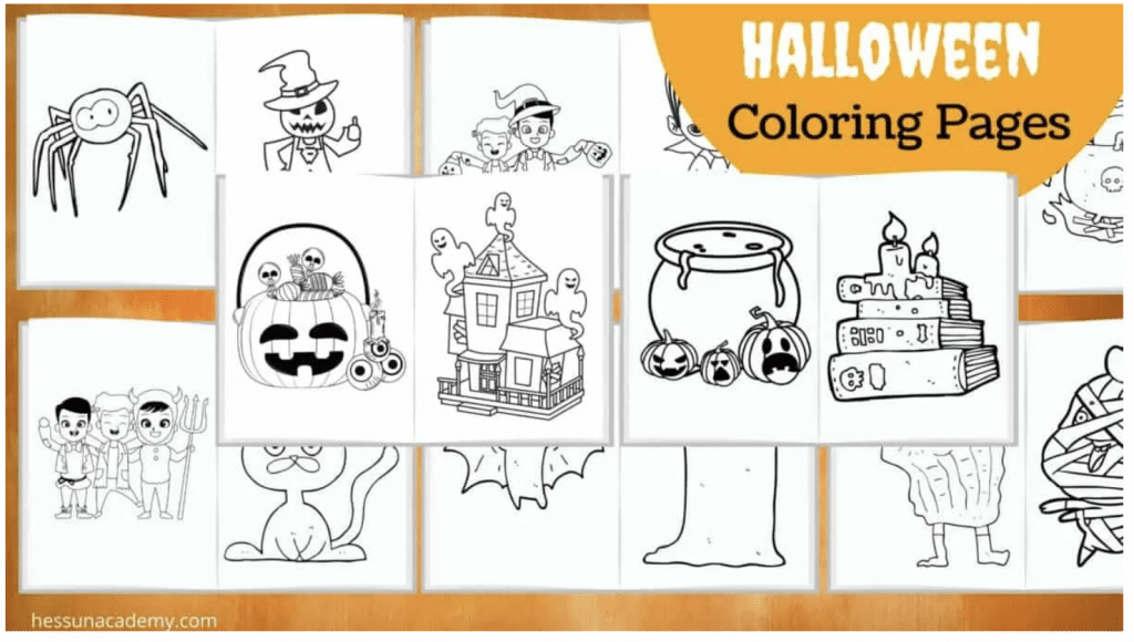 Halloween Coloring Activity Pack. #freehomeschooldeals #fhdhomeschoolers #freecoloringpages #halloweencoloringpages #freehalloweenactivities