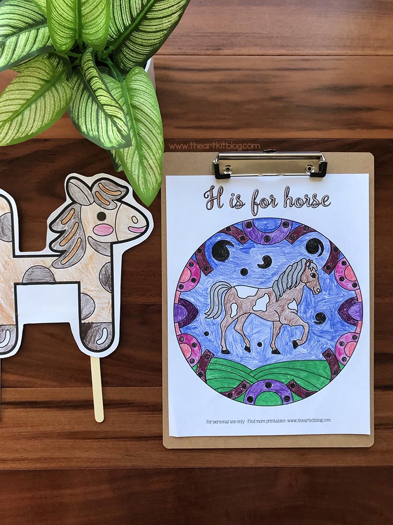 Horse Coloring and Activity Pages. #freehomeschooldeals #fhdhomeschoolers #freehorsecoloringpages #horseactivitypages #learningabouthorses
