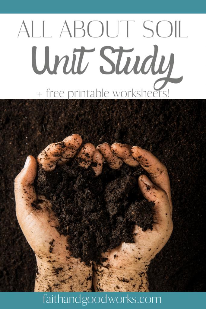 Free Soil Learning Activity. #freehomeschooldeals #fhdhomeschoolers #learningaboutsoil #soilunitstudy #soillearningactivity