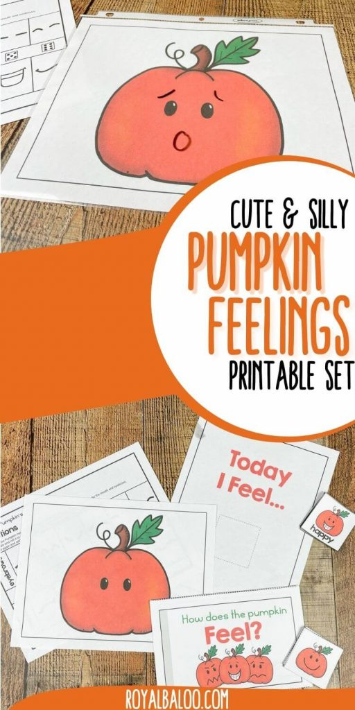 Early Learning Pumpkin Emotions Activity. #freehomeschooldeals #fhdhomeschoolers #learningaboutemotions #emotionsactivityforkids #emotionsworksheets