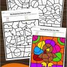 Fall Color By Letter Activities. #freehomeschooldeals #fhdhomeschoolers #colorbyletter #thanksgivingcoloringpages #fallactivitypages