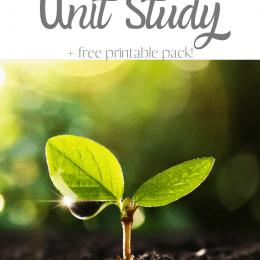 Plants Unit Study and Worksheets. #freehomeschooldeals #fhdhomeschoolers #learningaboutplants #freeplantsunitstudy #plantsworksheets