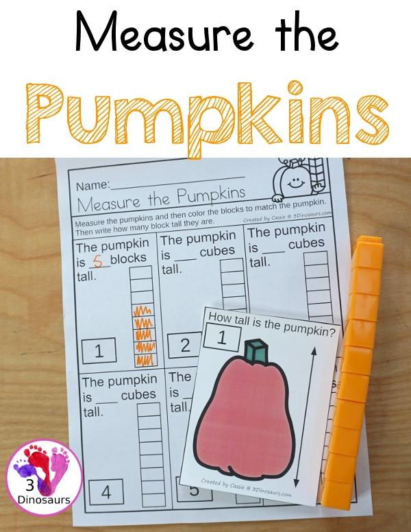 Measuring Pumpkins Math Activity. #freehomeschooldeals #fhdhomeschoolers #learningaboutmeasurement #measurementactivity #fallmathworksheets